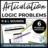 Articulation Logic Problems R & L | NO-PREP Speech Therapy Brain Teaser Puzzles