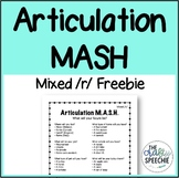 Articulation MASH Mixed /r/ Freebie!