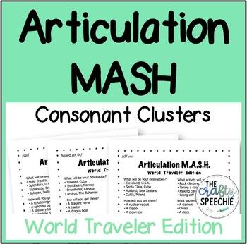 Articulation MASH: World Traveler Edition (Consonant Clusters)