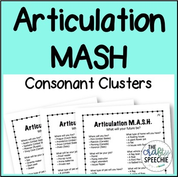 Articulation MASH for Consonant Clusters