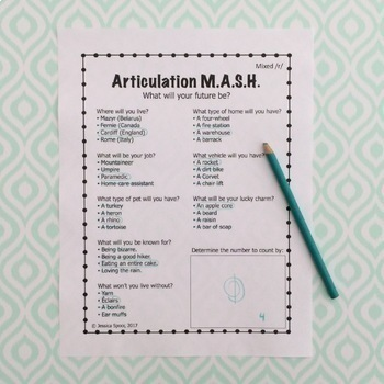 Articulation MASH for Later-Developing Speech Sounds