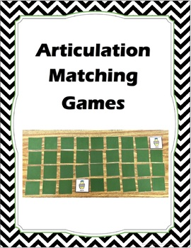 Articulation Memory/Matching Games