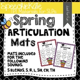 Articulation Mats for Spring in Speech Therapy