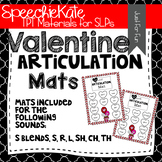 Articulation Mats for Valentine's Day in Speech Therapy