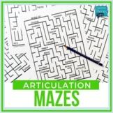 No Prep Articulation MAZES (14 Sounds)