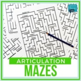 No Prep Articulation MAZES (14 Sounds)
