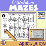Articulation Mazes for speech and language therapy