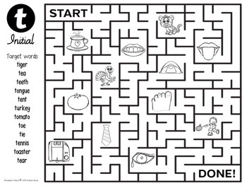 FREEBIE!! Articulation Mazes for speech and language therapy- FREE Sample!