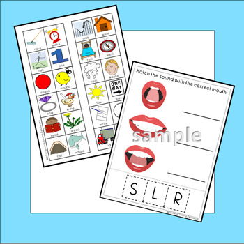 Minimal Pairs for /R/, /S/, & /L/ for Speech Therapy