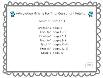 Articulation Mittens for Final Consonant Deletion