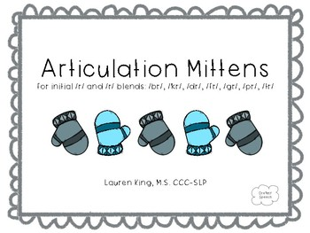 Articulation Mittens for Initial /R/ and /R/ Blends