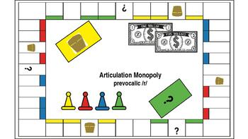 Articulation Monopoly: Prevocalic /r/