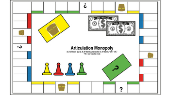 Articulation Monopoly Bundle; Speech Therapy; Articulation Therapy Monopoly Game