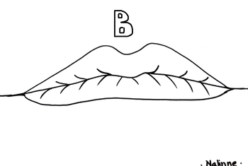Articulation Mouth Coloring Page - B - Phonology