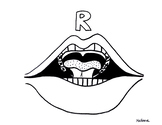 Articulation Mouth Coloring Page - R - Phonology