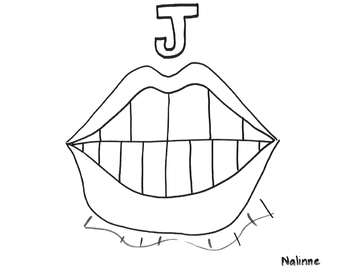 Articulation Mouth - J - Coloring Page - Phonology