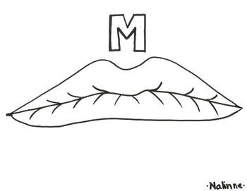 Articulation Mouth - M - Coloring Page - Phonology