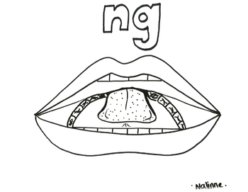 Articulation Mouth - NG - Coloring Page - Phonology