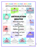 Articulation Mouths - BUNDLE of 34 Posters and Coloring Pages