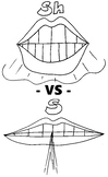 Articulation Mouths - S and SH - Coloring Pages - Phonology
