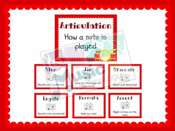 Elements of Music- Articulation Posters
