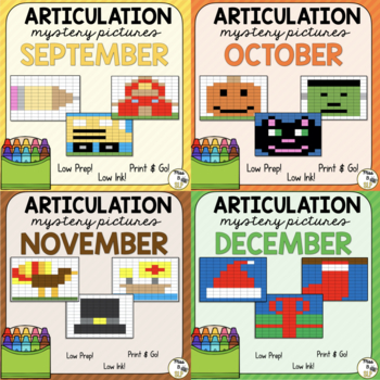 Articulation Mystery Pictures Bundle #3