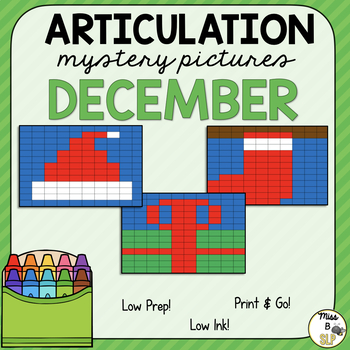 Articulation Mystery Pictures-December