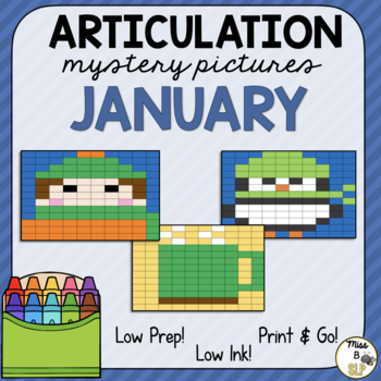 Articulation Mystery Pictures-January