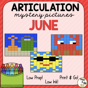 Articulation Mystery Pictures-June