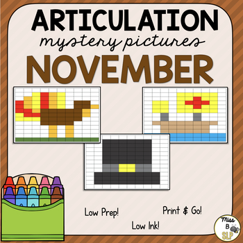 Articulation Mystery Pictures-November