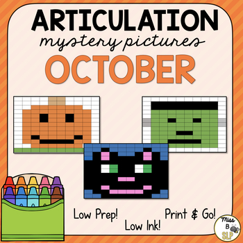 Articulation Mystery Pictures-October