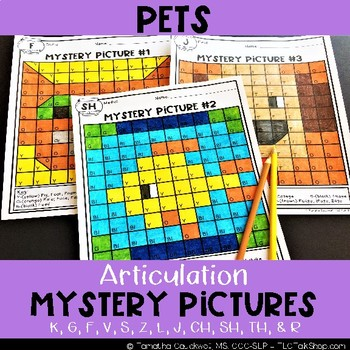 Pets: Articulation Mystery Pictures