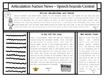 #dec2017slpmusthave Articulation Nation News - Newspaper Stories Reading Tasks
