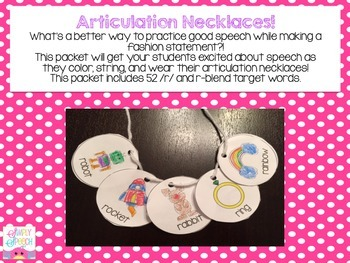 Articulation Necklaces! /r/ and r-blends