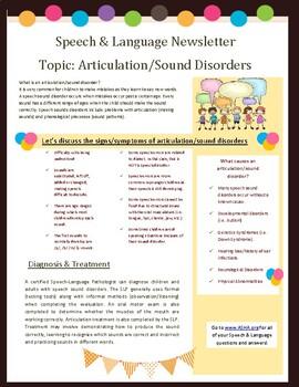 Articulation Newsletter- Teacher Resource Handout