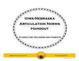 Articulation Norms Handout (Iowa-Nebraska Norms)