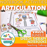 Articulation Activities for Notebooks Bundle - Distance Learning
