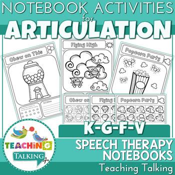 Articulation Notebooks for /k/,/g/, /f/ and /v/