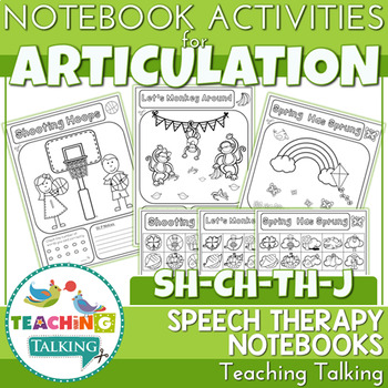 Articulation Notebooks for /sh/,/ch/, /th/ and /J/