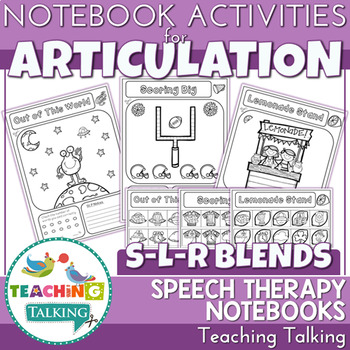 Articulation Notebooks for /s/,/l/ and /r/ blends