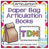 Articulation: Paper Bag Books for T, D, N