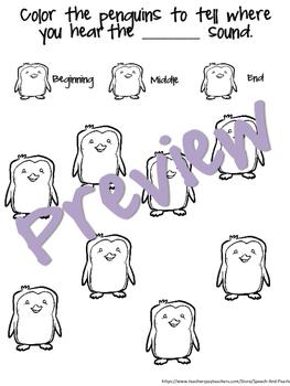 Articulation Penguins Packet