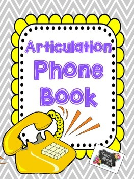 Articulation Phone Book