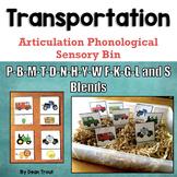 Transportation Speech Therapy Sensory Bin   Preschool Articulation