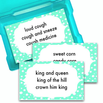 Articulation Activity   Cards  F L K G S R Sh TH