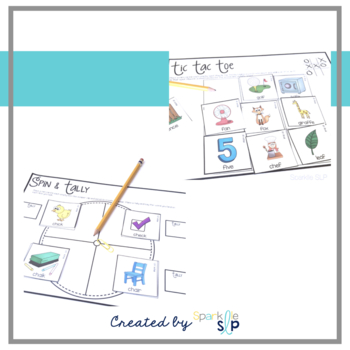 Articulation Picture Cards & Activities