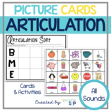 Speech Therapy:  Articulation Picture Cards & Activities:  ALL SOUNDS