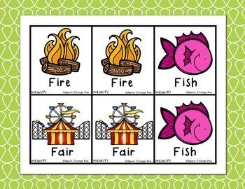 Articulation Picture Cards - Set 1 (K, G, F, V)