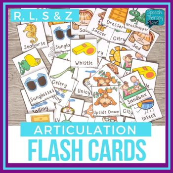 Articulation Picture Cards - Set 2 (S, Z, R, L)