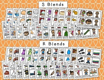 Articulation Picture Cards - Set 4 (Blends - R, S, L)
